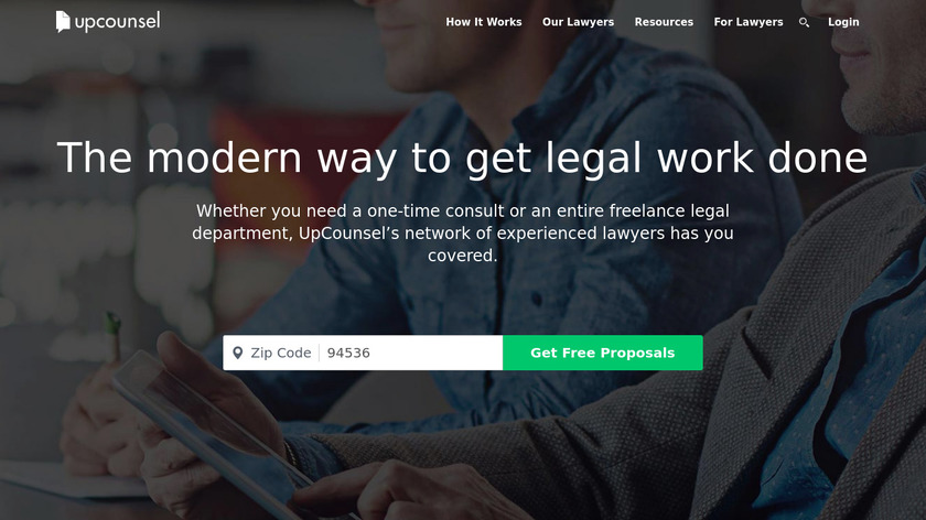 upcounsel Landing Page