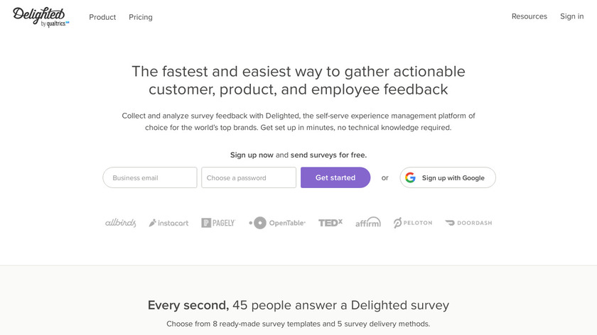 delighted Landing Page