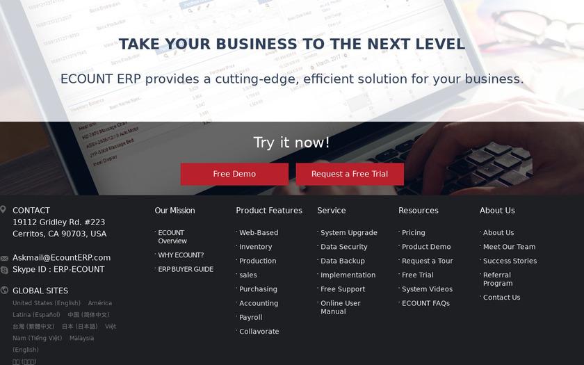 Ecount ERP Pricing
