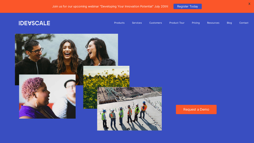 IdeaScale Landing Page