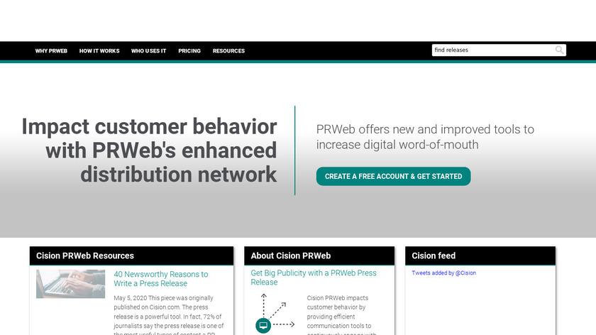 PRWeb Landing Page