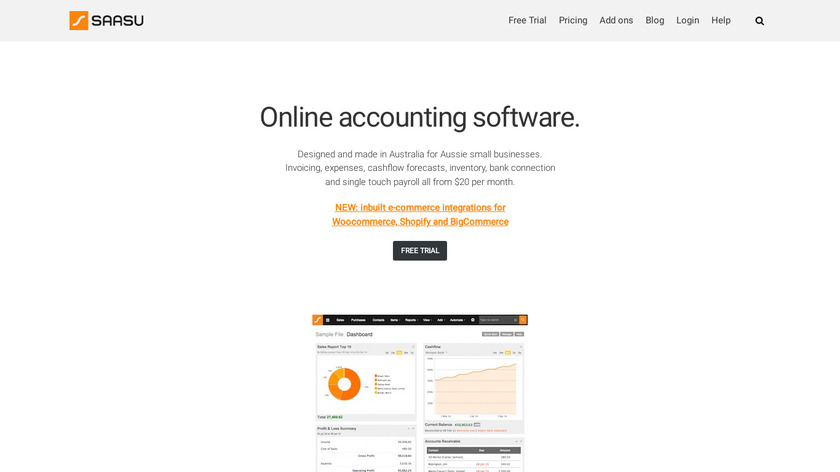 Saasu Landing Page