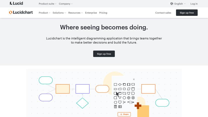 LucidChart Landing Page