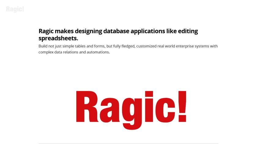 Ragic Landing Page