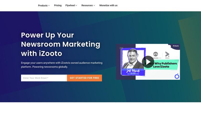 iZooto Landing Page