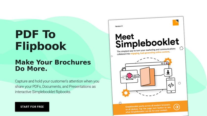 simplebooklet Landing Page