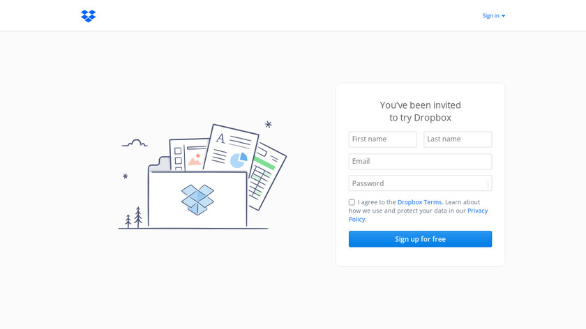 Dropbox Landing Page