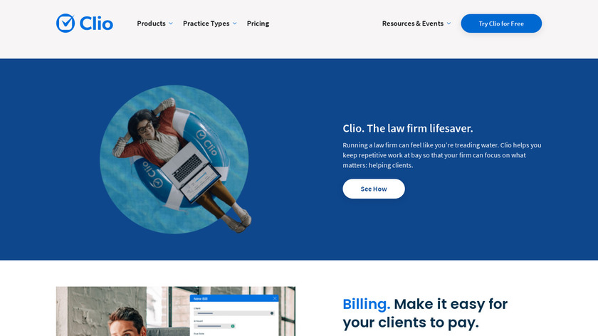 Clio Landing Page
