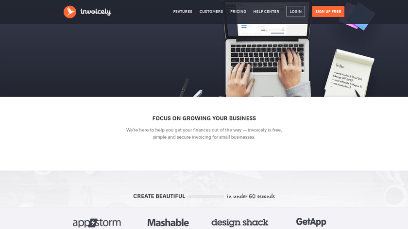 invoicely Landing Page