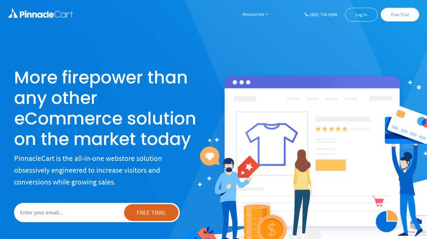 PinnacleCart Landing Page