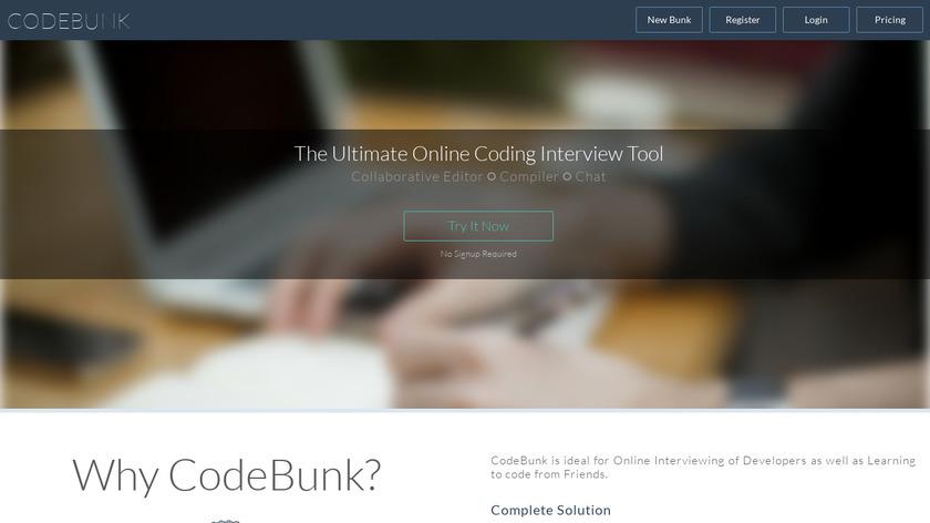 codebunk Landing Page