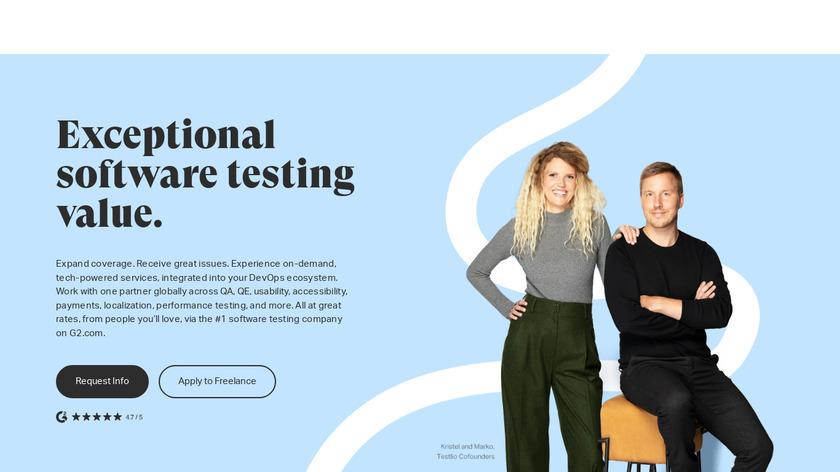 Testlio Landing Page
