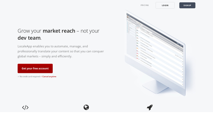 Locale Landing Page