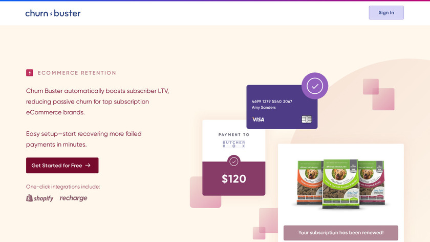 ChurnBuster Landing Page