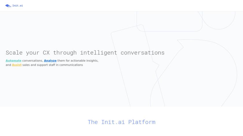 Init.ai Landing Page