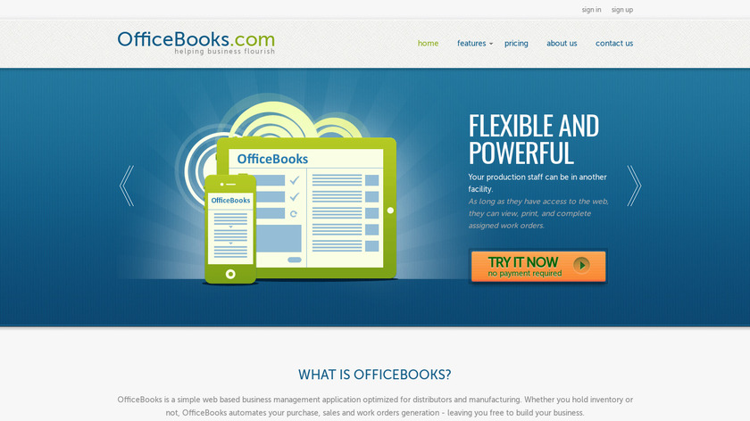 OfficeBooks Landing Page