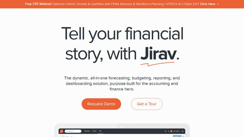 Jirav Landing Page