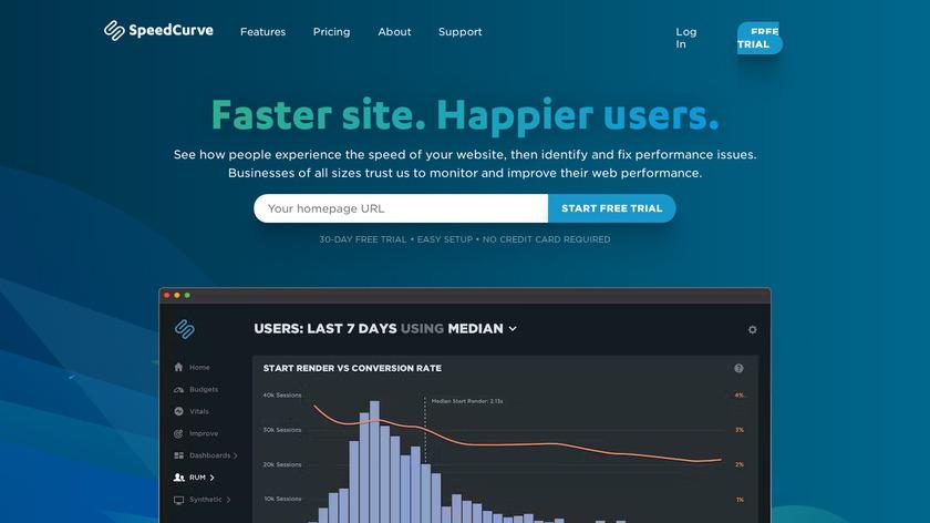 SpeedCurve Landing Page