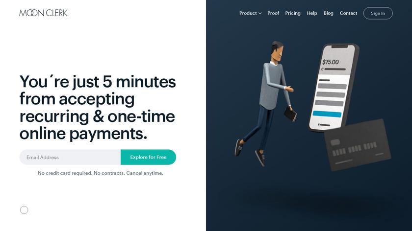 MoonClerk Landing Page