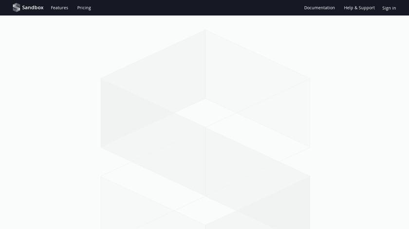 getsandbox.com Landing Page
