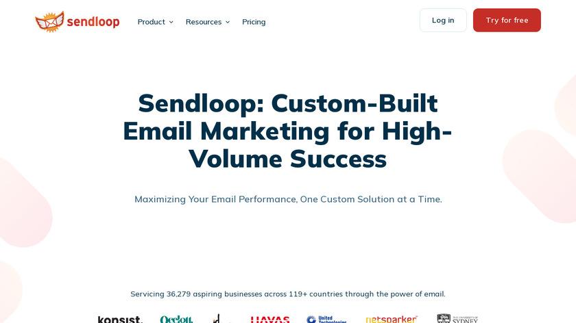 SendLoop Landing Page
