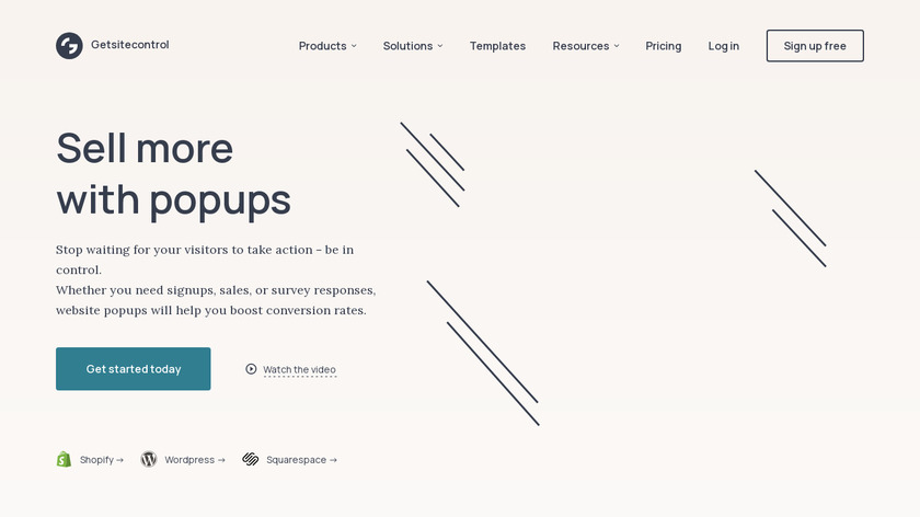 GetSiteControl Landing Page