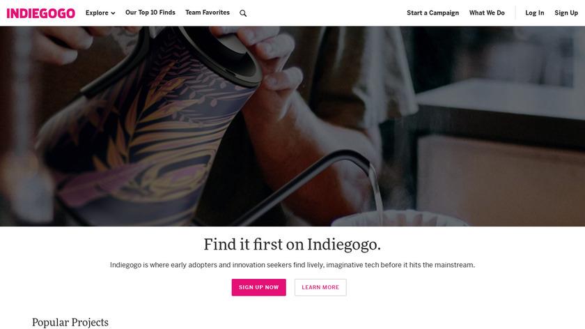 Indiegogo Landing Page