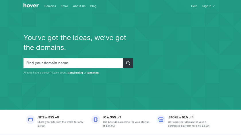 Hover Landing Page