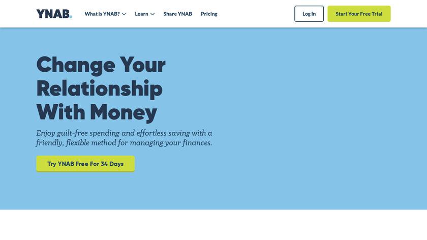 YouNeedABudget Landing Page