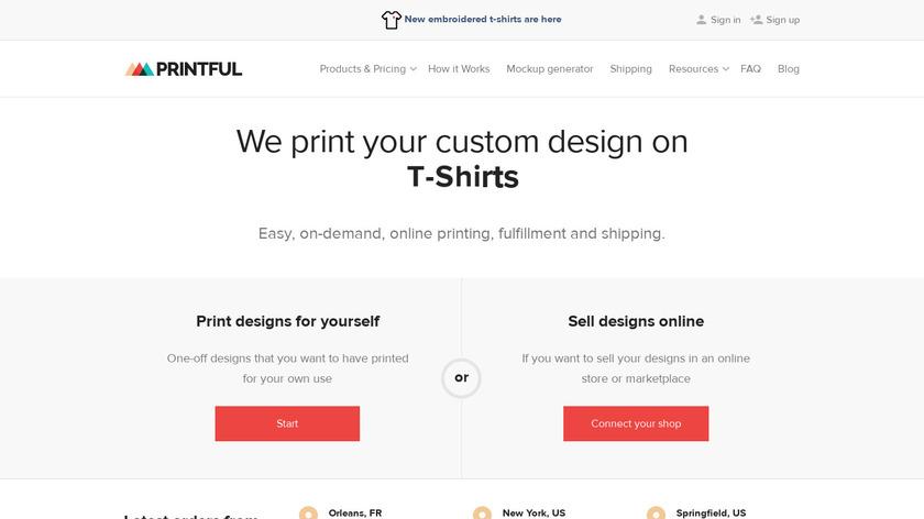 Printful Landing Page