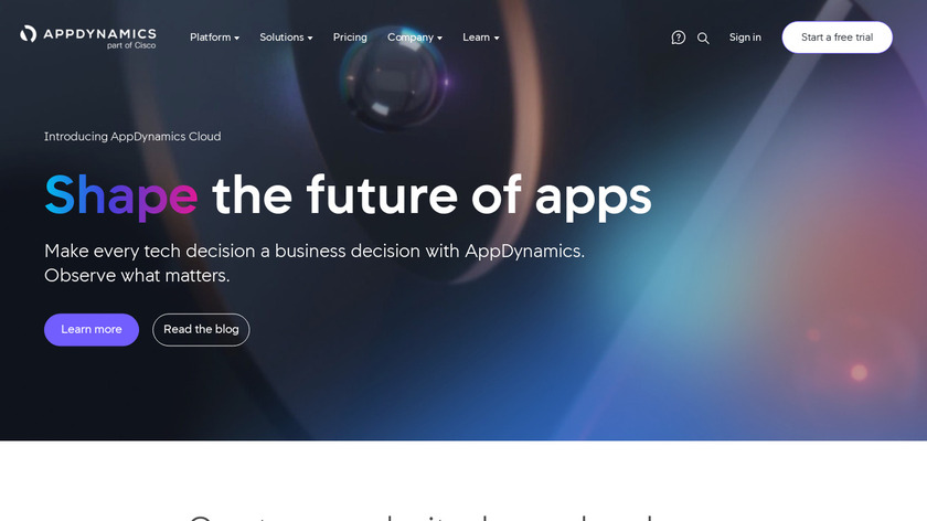 AppDynamics Landing Page
