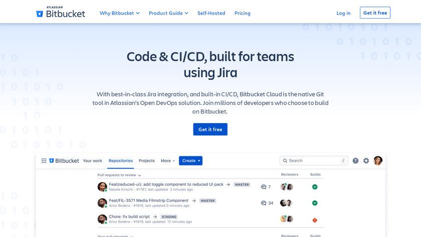 BitBucket Landing Page