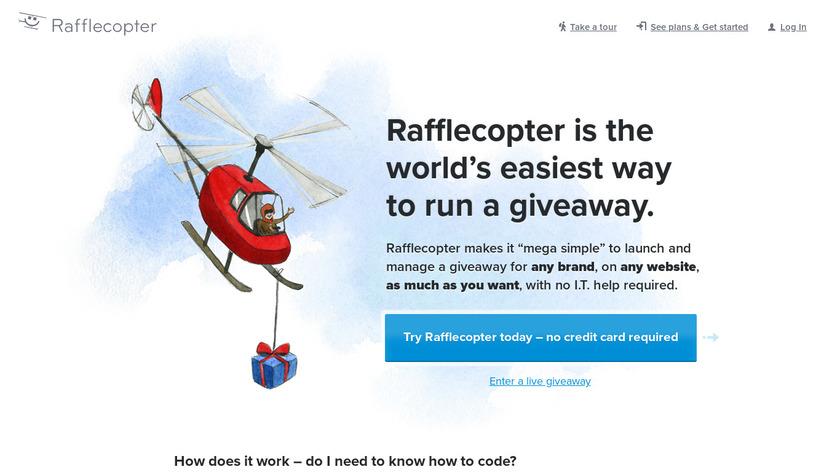 Rafflecopter Landing Page