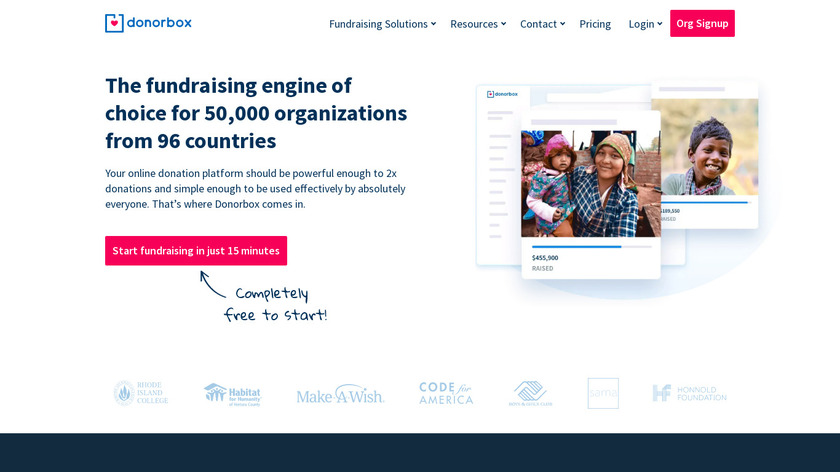 Donorbox Landing Page