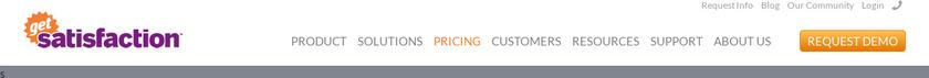 GetSatisfaction Pricing
