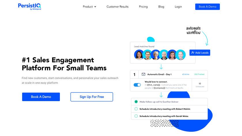 PersistIQ Landing Page