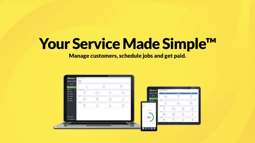 Kickserv Landing Page