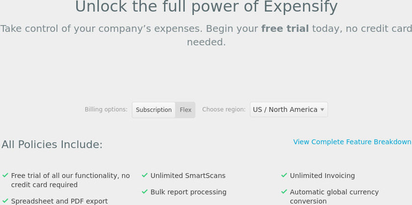 Expensify Pricing