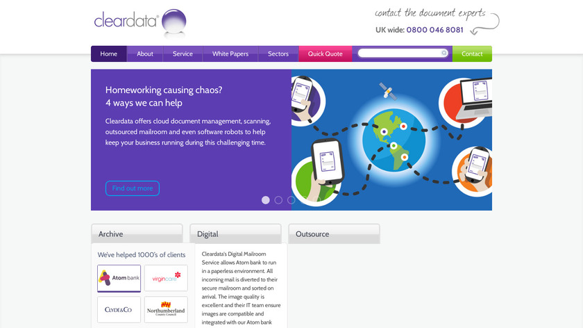 Cleardata Landing Page