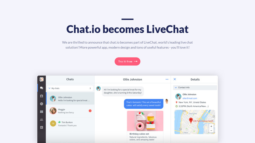 Chat.io Landing Page