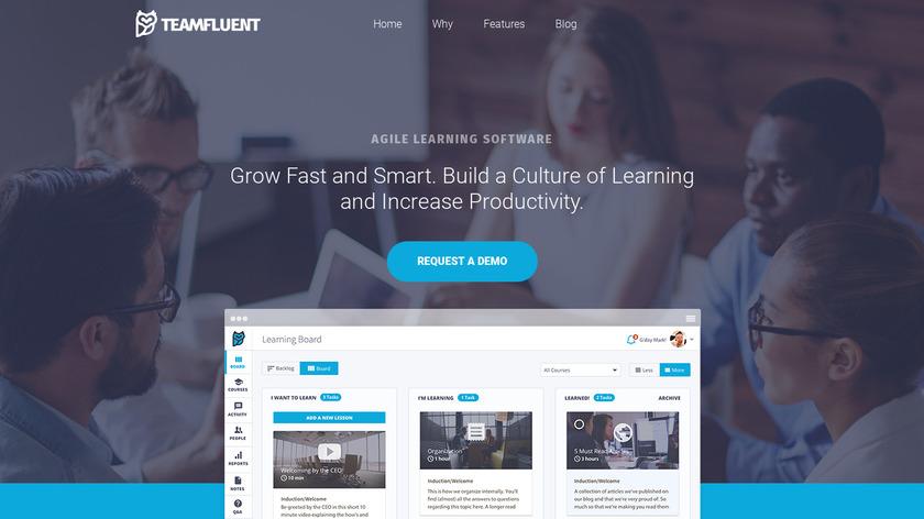 Teamfluent Landing Page