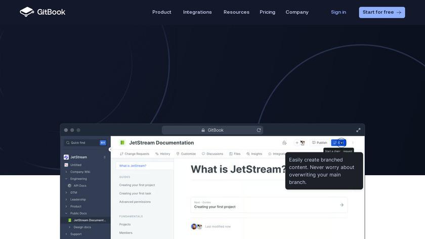 GitBook Landing Page