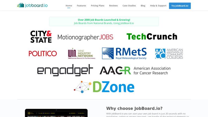 JobBoard.io Landing Page