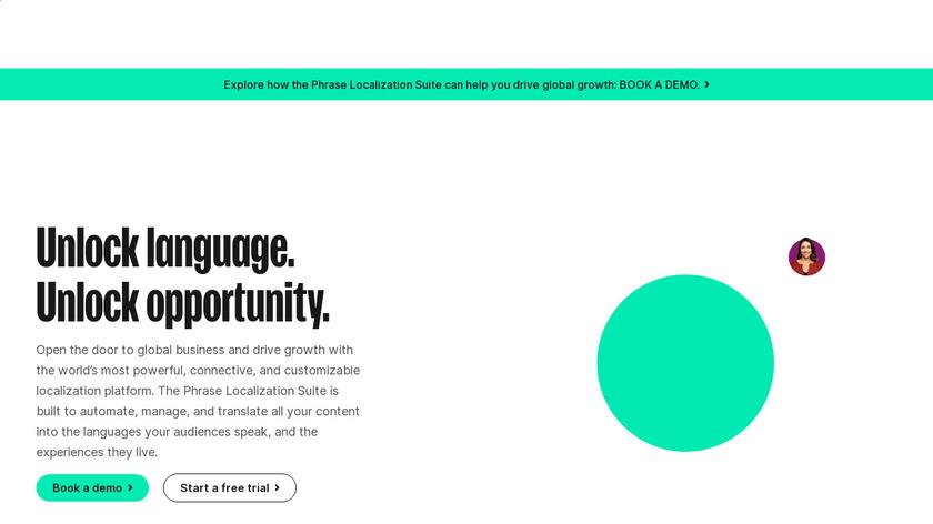 Phrase.com Landing Page