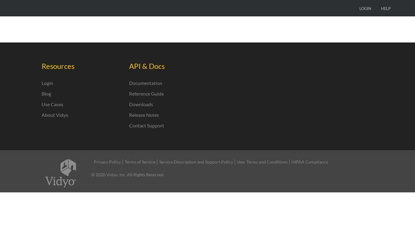 Vidyo.io Landing Page