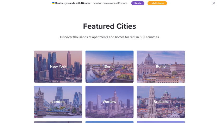 Rentberry Landing Page