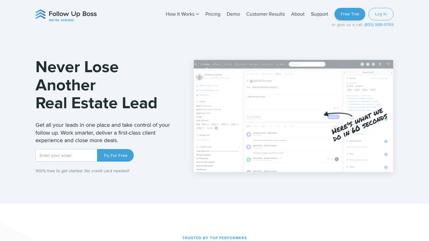 FollowUpBoss Landing Page
