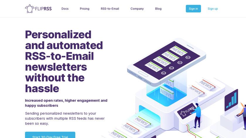 flipRSS Landing Page