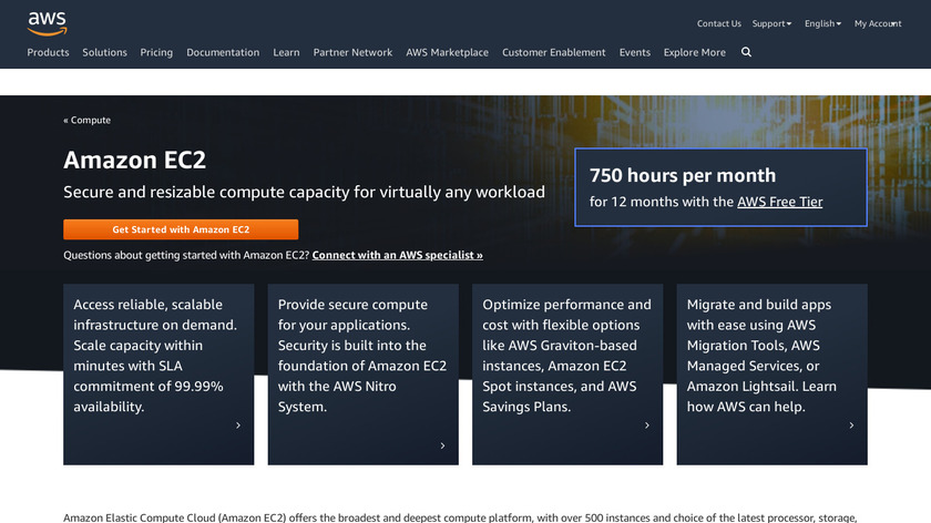 Amazon EC2 Landing Page