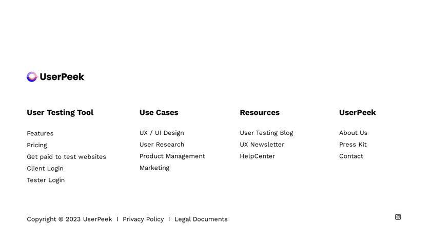 UserTest.io Landing Page